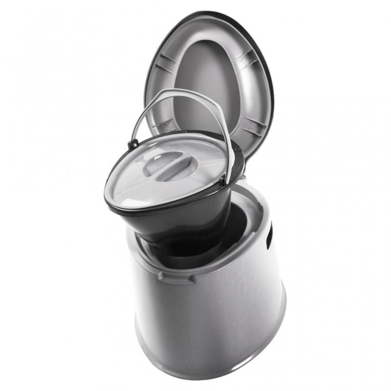 grande capacit/é Facile /à nettoyer Adulte Camping Toilette Adulte Chambre Pot hygi/énique toilettes seau avec couvercle poig Lszdp-negozio Pot de chambre toilettes portable en plastique for le camping